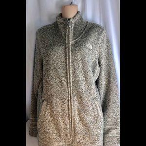 The North Face Full Zip Fleece Jacket XL Gray